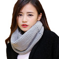2016 Women Winter Thick Warm Knitted Crochet Viscose Scarfs Infinity Cowl Circle Loop Ring Scarves Shawl