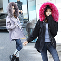 Women Parka Jacket Fur Collar Military Army Green Coat With Fur Hood Winter 2016 Cotton Padded