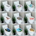 32 39cm Sticker WC Pedestal Pan Cover Sticker Toilet Stool Commode Sticker home decor Bathroon decor