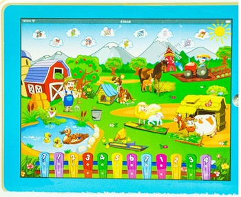 hot NEW  Y-PAD tablet touch speech learning machine - English happy farm educational toys for kids, best gift! free shopping!!
