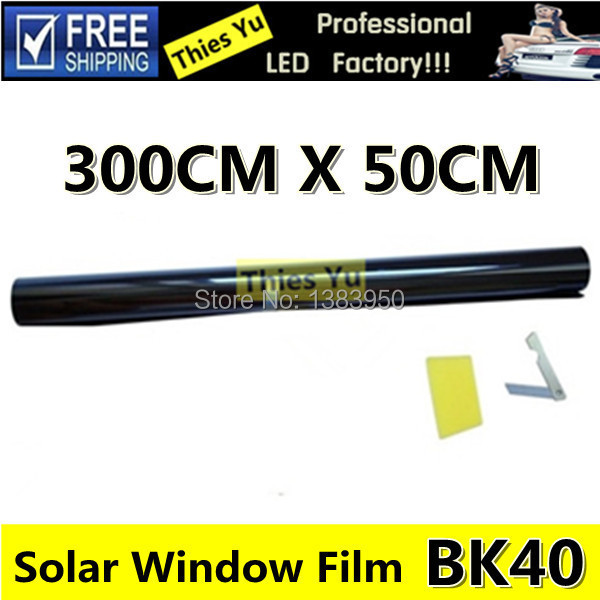 2Set Black Solar Window Tint Film Glass 40% Car Auto House Commercial Scratch Resistant Tinting Free Shipping(China (Mainland))