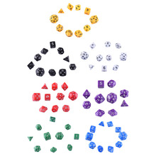 Buy 10pcs/set High Quality Multi-Sided Dice With Pearlized Effect D4 D6 D8 D10 D12 D20 D24 D30 Dungeons and Dragons Game 7 Colors for $2.99 in AliExpress store