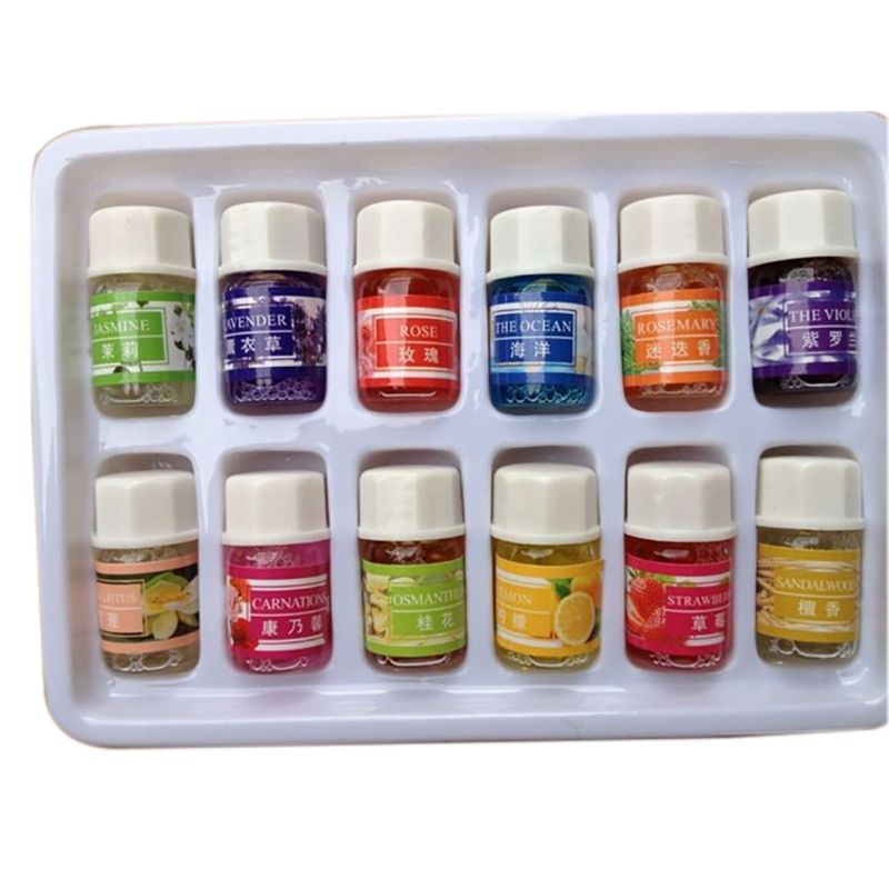 3ML Essential Oils Pack for Aromatherapy Spa Bath Massage Skin Care Lavender Oil 12 Kinds of Fragrance Hot(China (Mainland))