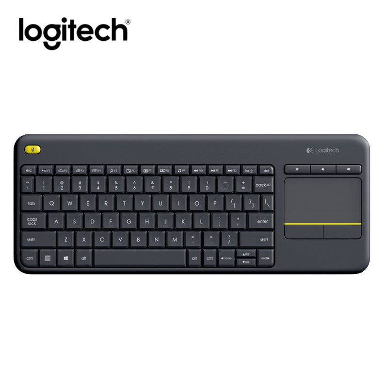 Advanced 2.4 GHz Logitech Wireless Keyboard K400s Gaming Original HTPC Touch Keybord Gamer for PC Connected TVs Receiver(China (Mainland))