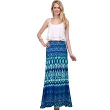 Hot 2016 Summer Style Vintage Casual Floral Print Maxi Skirt High Waisted Women's Floor-Length Skirt Plus Size A-Line Sexy J019