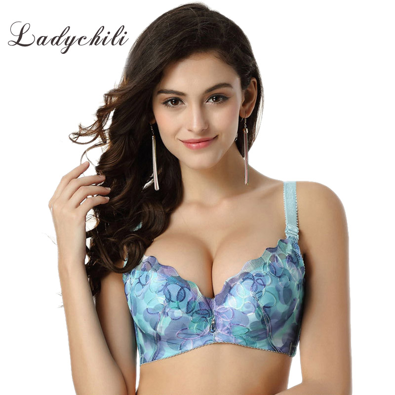 Large Size AC Cup Brassiere Perfumes And Fragrances Of Brand Originals For Women Intimates Bra Body Sharping Print Bra PushUp D5(China (Mainland))