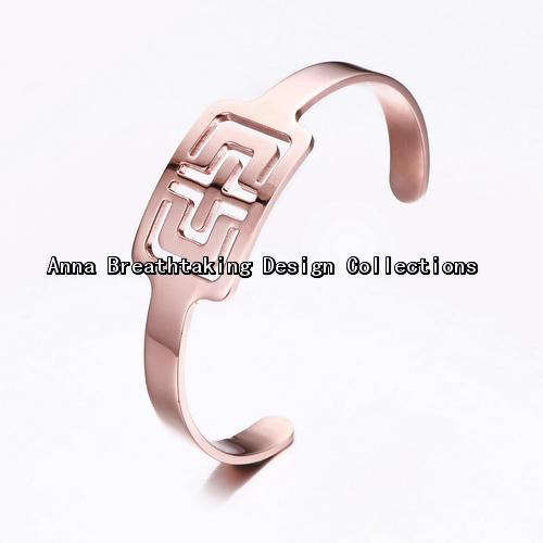 Italian Renowned Designer Open Heart Cuff Bracelet,In Rose Gold Plated Metal.Vintage Cuff Bangle For Women,A Elegant Gift to Get(China (Mainland))