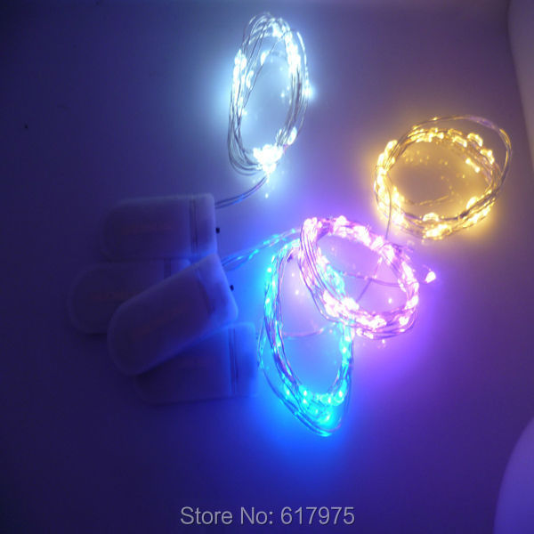 10pcs flat coin battery box cristmas rice string light tiny Led rice light for clothes led copper wire string light for wedding(China (Mainland))