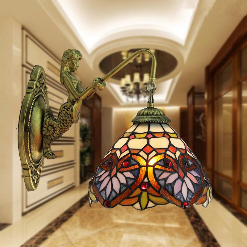 Stained Glass Light Fixtures Wall Sconces : Tiffany Style Sconces Promotion-Shop for Promotional Tiffany Style Sconces on Aliexpress.com