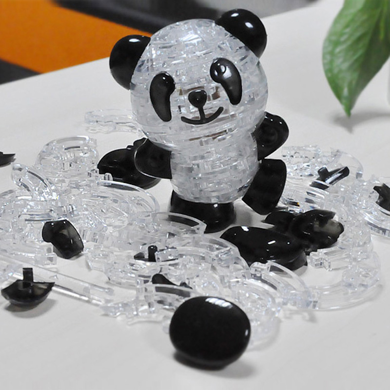 3D Crystal Puzzle Jigsaw Model Diy Panda Intellectual Toy Gift Furnish Gadget Children's Educational Toys Christmas Gift(China (Mainland))