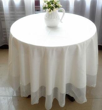 215cm  Round  WHITE  wedding home table cloths