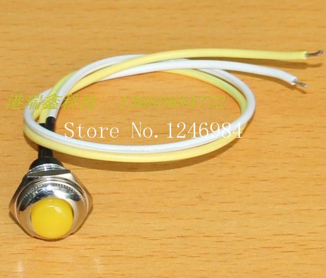 [SA]R13-502 MA yellow metal normally open pushbutton switch Taiwan New SCI single lock-free press pass reset--50pcs/lot<br><br>Aliexpress
