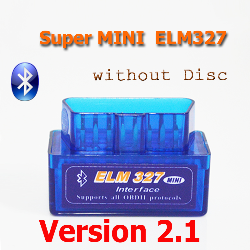 (Without Disc) V2.1 Super MINI ELM327 ELM 327 Bluetooth OBDii / OBD2 Auto Code Reader Diagnostic Tool FREE SHIPPING(China (Mainland))