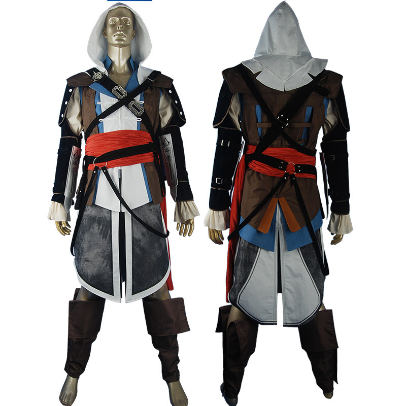Online kopen wholesale edward kenway outfit uit china for Halloween kostuum action