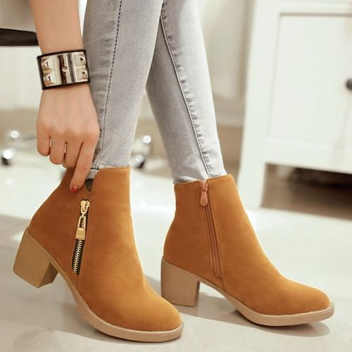 Гаджет  fashion2015 chunky heels martin boots fashion sexy zipper women martin boots elegant women fall winter boots None Обувь