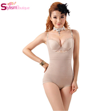 Women Floral Bodysuits Shapewear Underwear Plus size Body Shaper Waist Training Corsets Buckle In The Crotch High-elastic