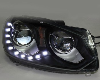 2010-2012 V.W. European Version Golf 6 GTI  Headlights Assembly, 10 LED bulbs