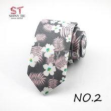2018 New Designer 100% Cotton Neck Tie For Men Business Artificial Slim Tie Small Cravat Skinny Corbatas Party Gift Accessories(China)