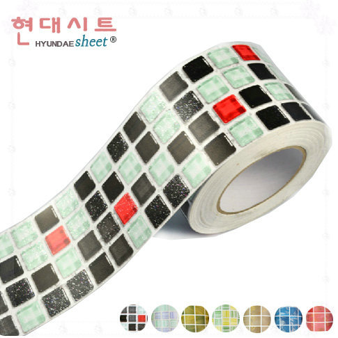 Waistline wall sticker bathroom waterproof sticker pvc wallpaper mosaic tile stickers border wallpaper adesivo de parede borders(China (Mainland))