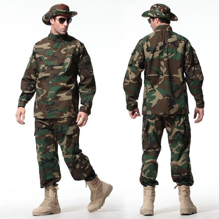 Green-8-Colors-Tactical-Uniform--Jacket-And-Army-Pants-MultiCam-ACU-Woodland-A-TACS-FG-Camouflage