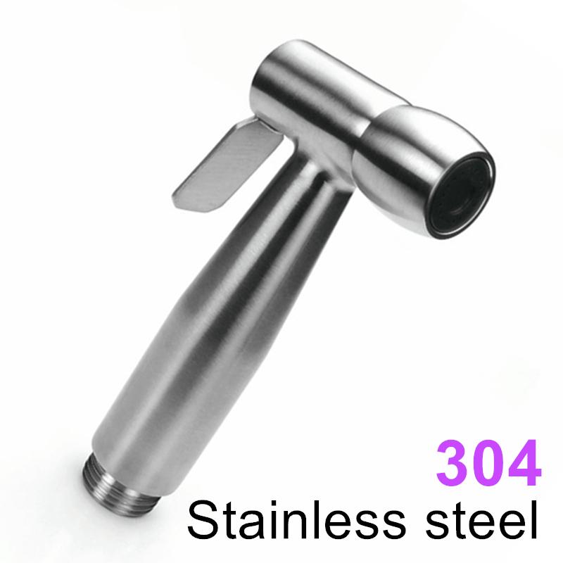 304 Stainless Steel Women Hand held Bidet Shower set Toilet Jet Cleaner Portable Bidet High Pressure Shower Head(China (Mainland))