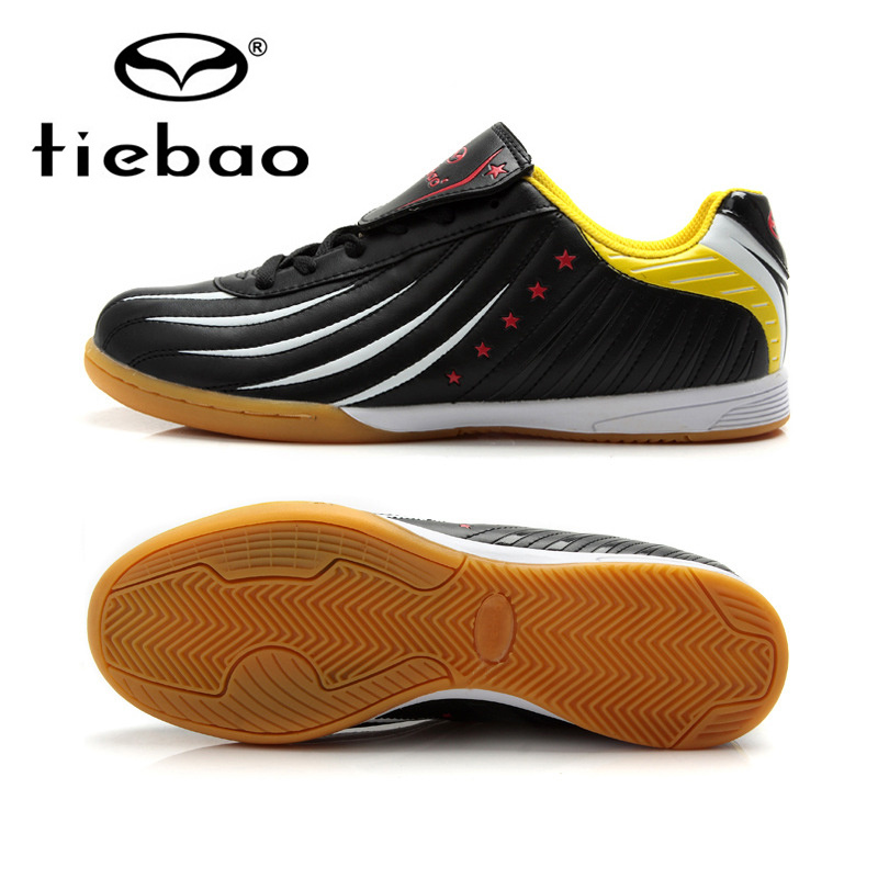 TIEBAO Professional Indoor Soccer Shoes IN & IC Sole Football Boots Sneakers Men Women Athletic Training Shoes chuteira futsal(China (Mainland))