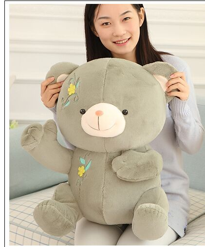 big dark green plush teddy bear toy hug teddy bear doll lovely sitting bear toy gift about 55cm(China (Mainland))