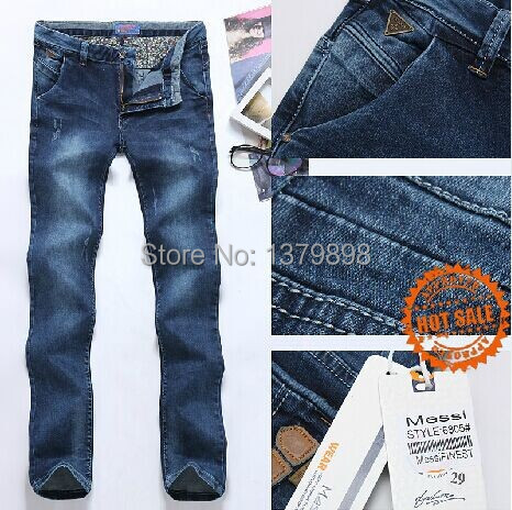 New fashion Men's casual denim pants High quality slim trousers long jeans Men Korean style 6805 elastic jeans Free shopping(China (Mainland))