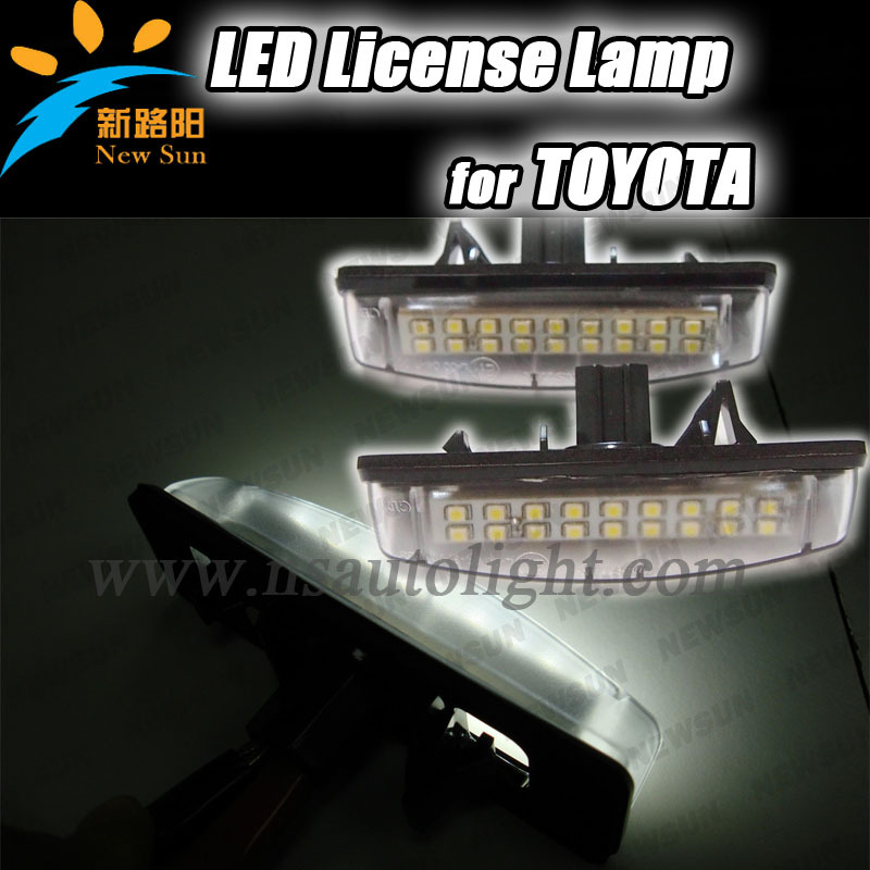 For MITSUBISHI Colt plus Grandis factory wholesale price led tail license light, DC 9-16V Waterproof 7W Car license plate light(China (Mainland))