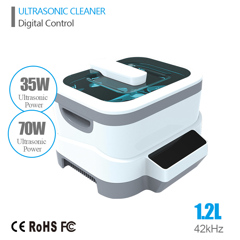 Digital Ultrasonic Cleaner Baskets Jewelry Watches Dental 1.2L 35W 70W 42kHz Ultrasound Ultrasonic Vegetable Cleaner Bath(China (Mainland))