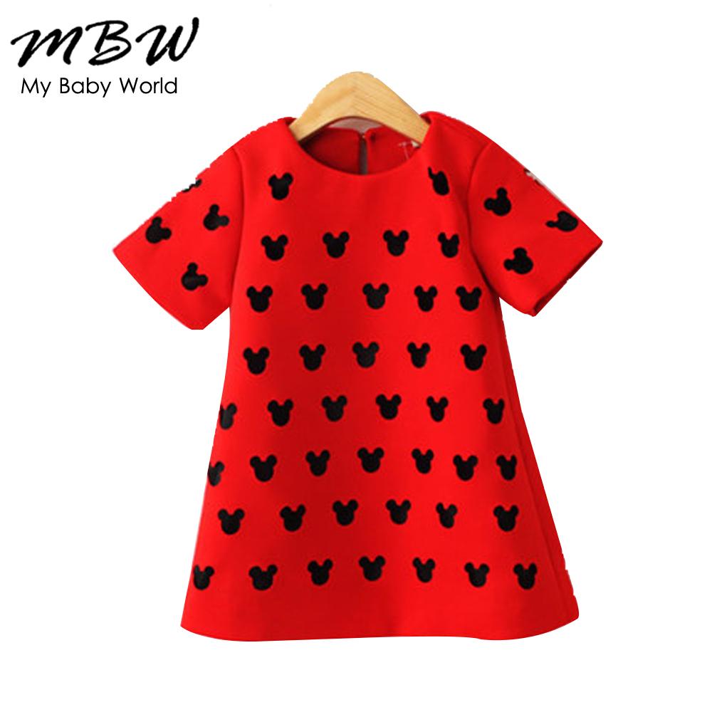 2015 new brand spring summer baby girl red black dress kids toddler children's girl clothing vestidos festa infantis meninas(China (Mainland))