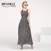 MIEGOFCE 2016 Новое летнее поступление женское приталенное длинное платье шифоновое без рукавов(China (Mainland))