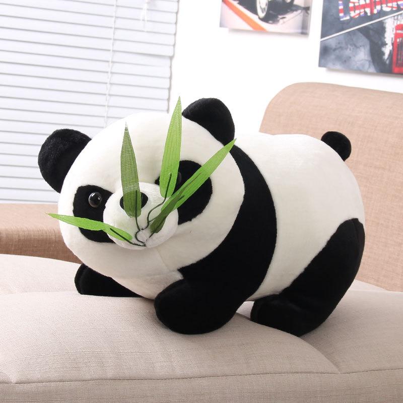 very cheap price cute 26cm soft panda stuffed plush toy cuddly bamboo panda plush toy doll(China (Mainland))