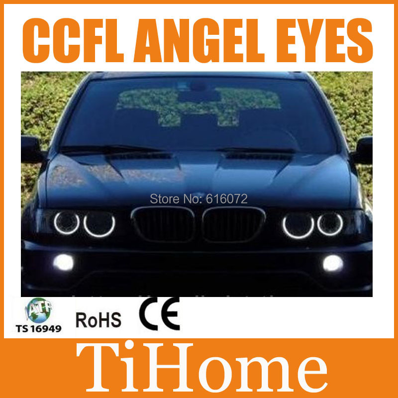 Free Shipping X5 CCFL ANGEL EYES , NON PROJECTOR HALO RING, CCFL ANGELEYES KIT FOR BMW X5 E53(China (Mainland))
