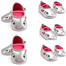 Baby Boys Girl Toddler Infant Silver Soft Sole Crib Shoes Slip-on Autumn Shoes(China (Mainland))