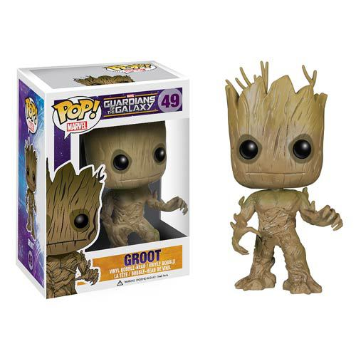Funko Pop Figure 10cm 1pcs Marvel Guardians of the Galaxy Groot PVC Cute Action Figure Collection Kids Gifts Toys 1124(China (Mainland))