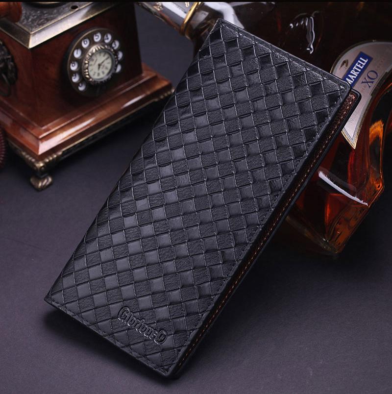 HOT SALE ! 2015 New Minimalism Luxury Designer Gentleman Leather Long Purse Pockets High Quality Men Wallet Hot Selling 007-3(China (Mainland))