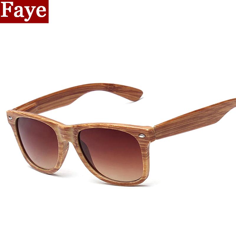 2016 New Fashion Vintage Sunglasses Women Men with Rivet Imitation Wooden Pattern Eyewear Round Sun Glasses UV400 S462(China (Mainland))