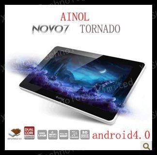 2012 newest Ainol Novo tornado 7'' capacitive screen 1GB RAM, 16gb ROM,Android 4.0 tablet pc