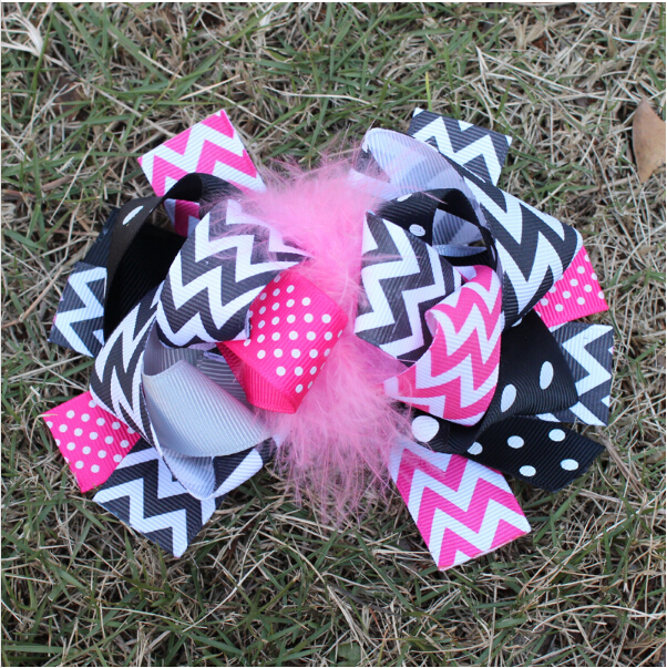 6 inch baby women girls grosgrain ribbon hair bows clips ornaments satin floral flower hairclips feather headdress accessories(China (Mainland))