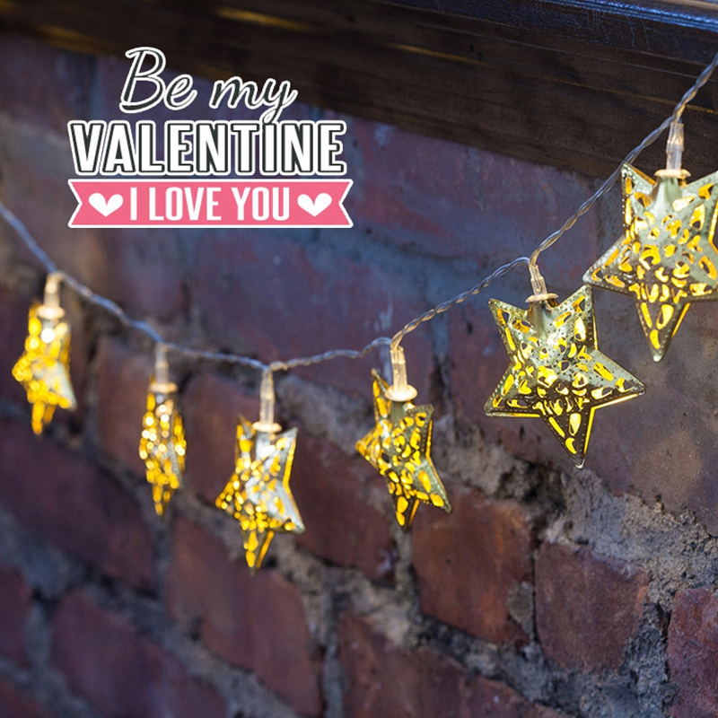 New hollow out the stars modelling, wrought iron LED Christmas decoration, outdoor wedding holiday lights flashing the bedroom(China (Mainland))