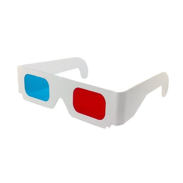 wall paper 3d glasses Red-Cyan/Blue Paper Card 3D 3-D Anaglyph Glasses(China (Mainland))