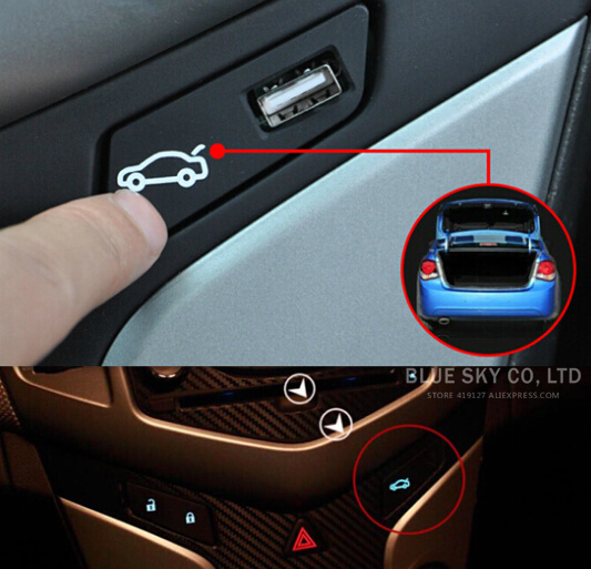 LED Trunk switch assembly luggage refit button For Chevrolet Cruze 2009-2014 Left hand drive(China (Mainland))