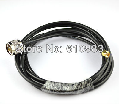 Free shipping 1 piece 2 M Pigtail cable Straight N Male Plug to SMA male Plug connector Extension cord RG58<br><br>Aliexpress
