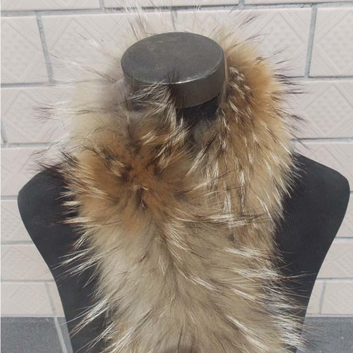 Гаджет  real raccoon fur collar 70cm None Одежда и аксессуары