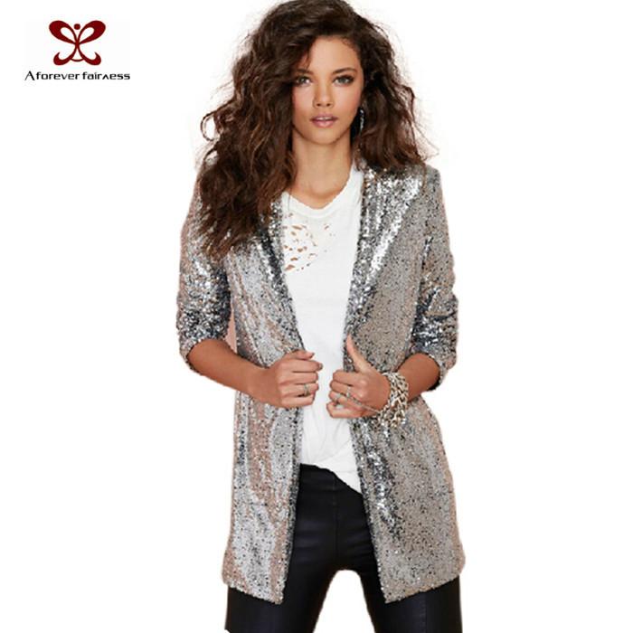Metallic Suit Jacket Women New Fashion Suit Jacket