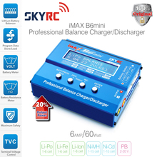100% Original SKYRC IMAX B6 MINI 60W Balance Charger Discharger For RC Helicopter Battery Charging Re-peak Mode for NIMH/NICD