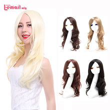 L-email Fashion Women Cute Lady Wig 60cm/24inches Synthetic Wigs Hair Mixed Beige Synthetic Hair Long Platinum Blonde Wig Peruca(China (Mainland))