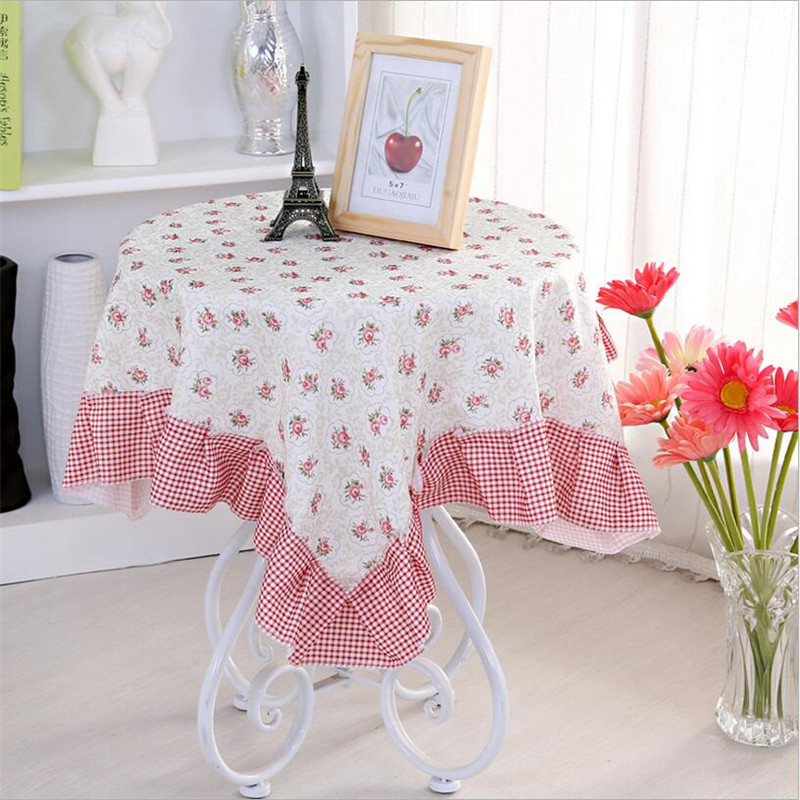 "WIT 110x110cm Lace Table Cloth 43.3""x43.3""inch Florals Tablecloths Refrigerator TV Cover Multi-purpose Small Cloth Table Cover(China (Mainland))"