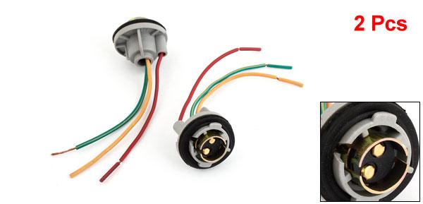 1157 Turn Signal Brake Light Bulb Socket Connector Wire Harness Plug 2 Pcs/lot(China (Mainland))